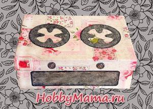 Кукольная печка - игрушка из обувной коробки