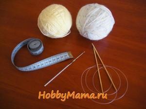 Материалы для вязания детской косынки