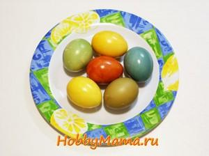 Окраска яиц натуральными красителями