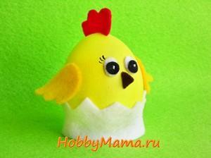 Цыпленок Поделка из яйца к Пасхе
