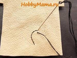 Сделать вышивку на коже