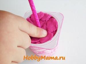 Топиарий с детьми Торцевание из гофрированной бумаги