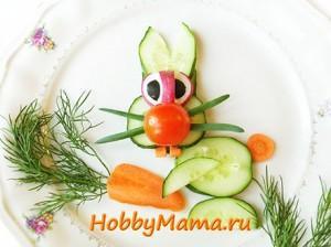 Украшение блюд для детей Фото