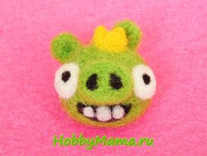 Felted Bad Piggies Tutorial