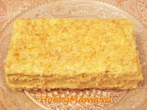 Рецепт торта Наполеон из готового слоеного теста