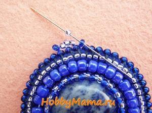 Мастер-класс Петля для кулона из бисера Мозаичное плетение