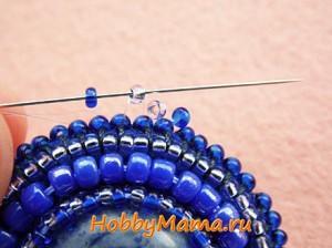 Мозаичное плетение Кулон из бисера