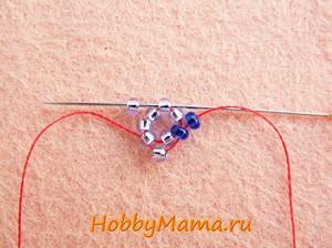 Мозаичное плетение из бисера Спиральный жгут