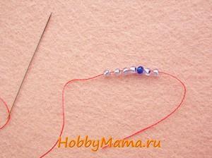 Плетение мозаичного жгута