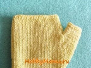Вязание перчаток без пальцев Мастер-класс