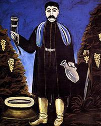 Князь с рогом вина Нико Пиросмани