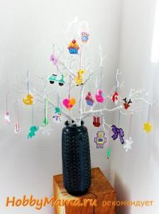 Новогодние поделки с детьми Украшения на елку из термомозаики
