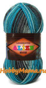 Пряжа для вязания шарфа-бактуса спицами
