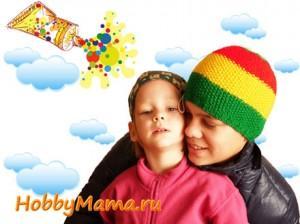 Как связать ямайскую шапку спицами для мальчика