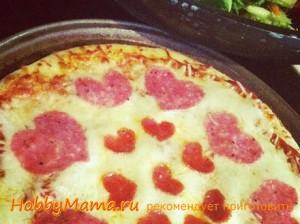 Украшение пиццы на День влюбленных