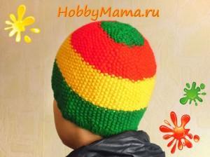 Зимняя шапка для мальчика-подростка спицами