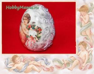 Easter egg Decoupage and Paper Art Tutorial