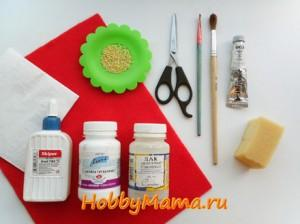 Инструменты и материалы для пейп-арта пасхального яйца