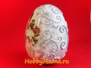 Пейп-арт и декупаж пасхального яйца МК