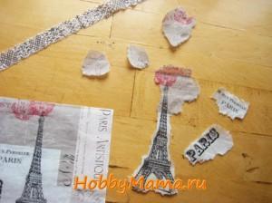Декупаж Париж Мастер-класс