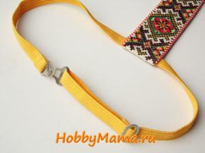 Галстук на резинке Мастер-класс Схема вышивки крестом