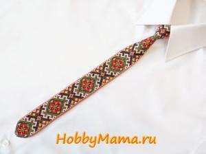 Как сделать вышитый галстук своими руками