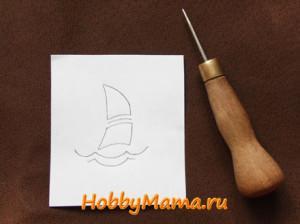 Эскиз для вышивки на коже Чехол для планшета