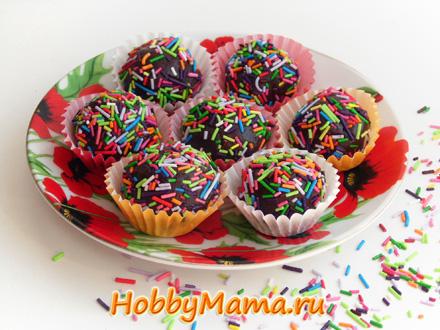 Домашние шоколадные конфеты трюфель Рецепт
