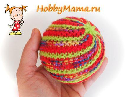 Мячик спицами Описание вязания