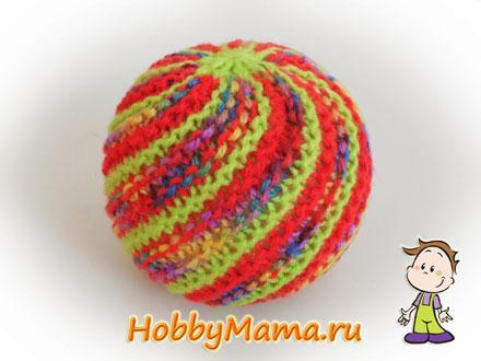 Вязаный мяч своими руками Описание вязания спицами