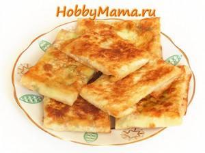 Быстрая закуска из тонкого лаваша. Кутабы с сыром, зеленью и ветчиной