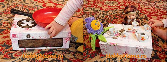 Печка-игрушка из обувной коробки