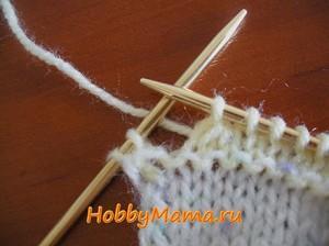 Вязание для детей Косынка спицами