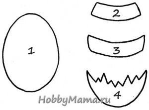Выкройка пасхального яйца из фетра