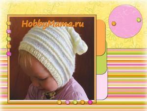 Вязание для начинающих Детская косынка спицами