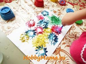 Детское творчество Монотипия