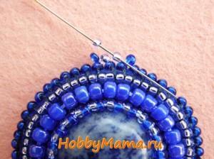 Мозаичное плетение бисером Петля для кулона