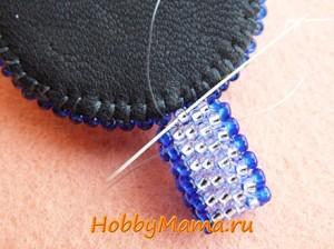 Мозаичное плетение из бисера Мастер-класс Плетение петли для кулона