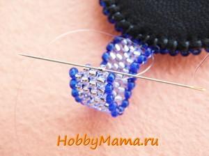 Мозаичное плетение из бисера по кругу