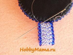 Петля для кулона из бисера Ручное ткачество Мозаичное плетение