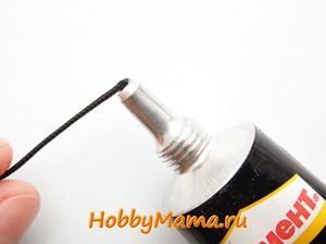 Как нанизать бусины на шнур в браслете Шамбала