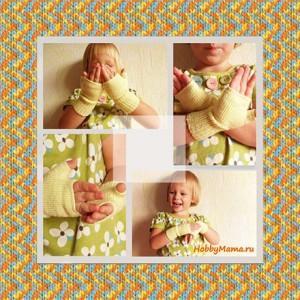 Knitting mittens for Kids Tutorial