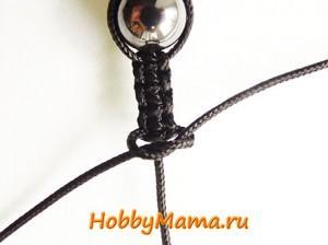 Плетение макраме Мужской браслет Шамбала