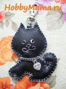 Cat Keychain Leather Hand Made Free Pattern