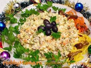 Традиционный новогодний салат Оливье Рецепт