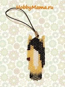 Брелок Лошадка из бисера Мастер-класс Схема плетения