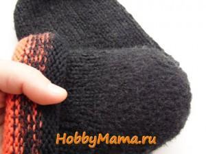 Ремонт вязаного носка сухим валянием шерсти