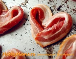 Бекон-сердечко на День влюбленных