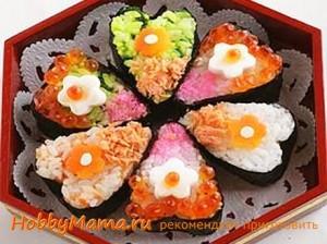 Суши-сердечко на День влюбленных