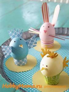 Детские поделки из яичной скорлупы